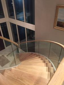 Curved Modern Wood Stairs